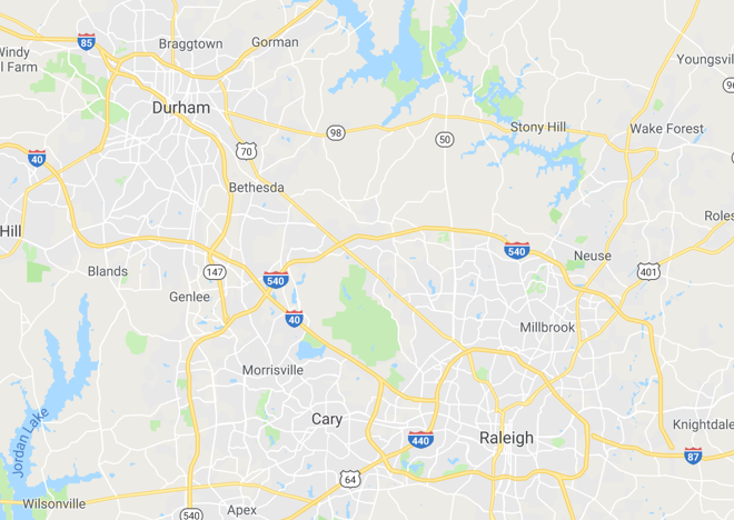 All neighborhoods in The Triangle